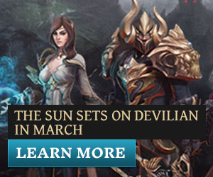 The sun sets on Devilian in March